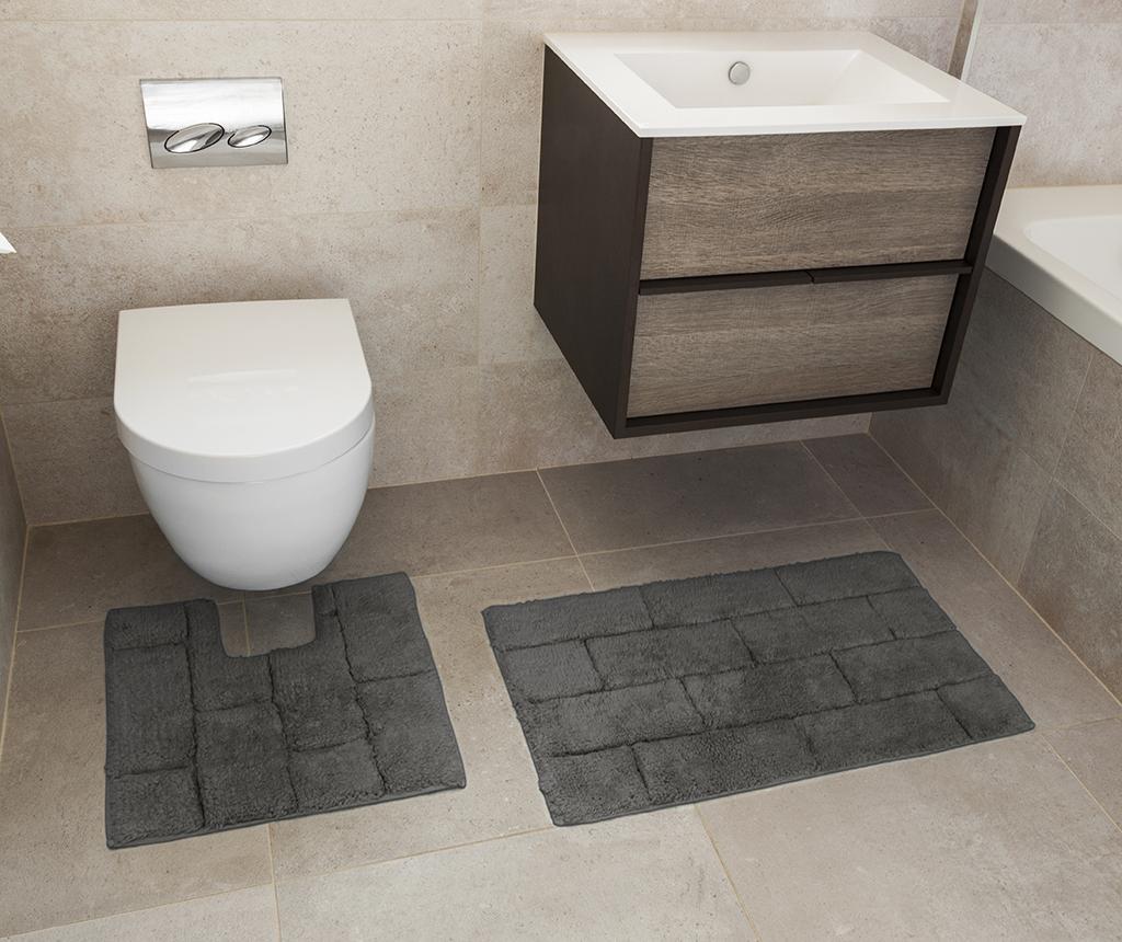 Quiana Charcoal Fürdőszobai kilépő és szőnyeg