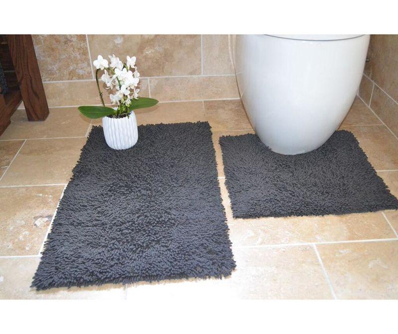 Комплект 2 килима за баня Ivo Grey