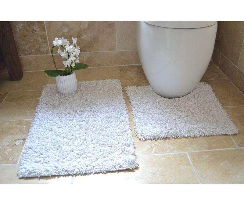 Комплект 2 килима за баня Ivo White