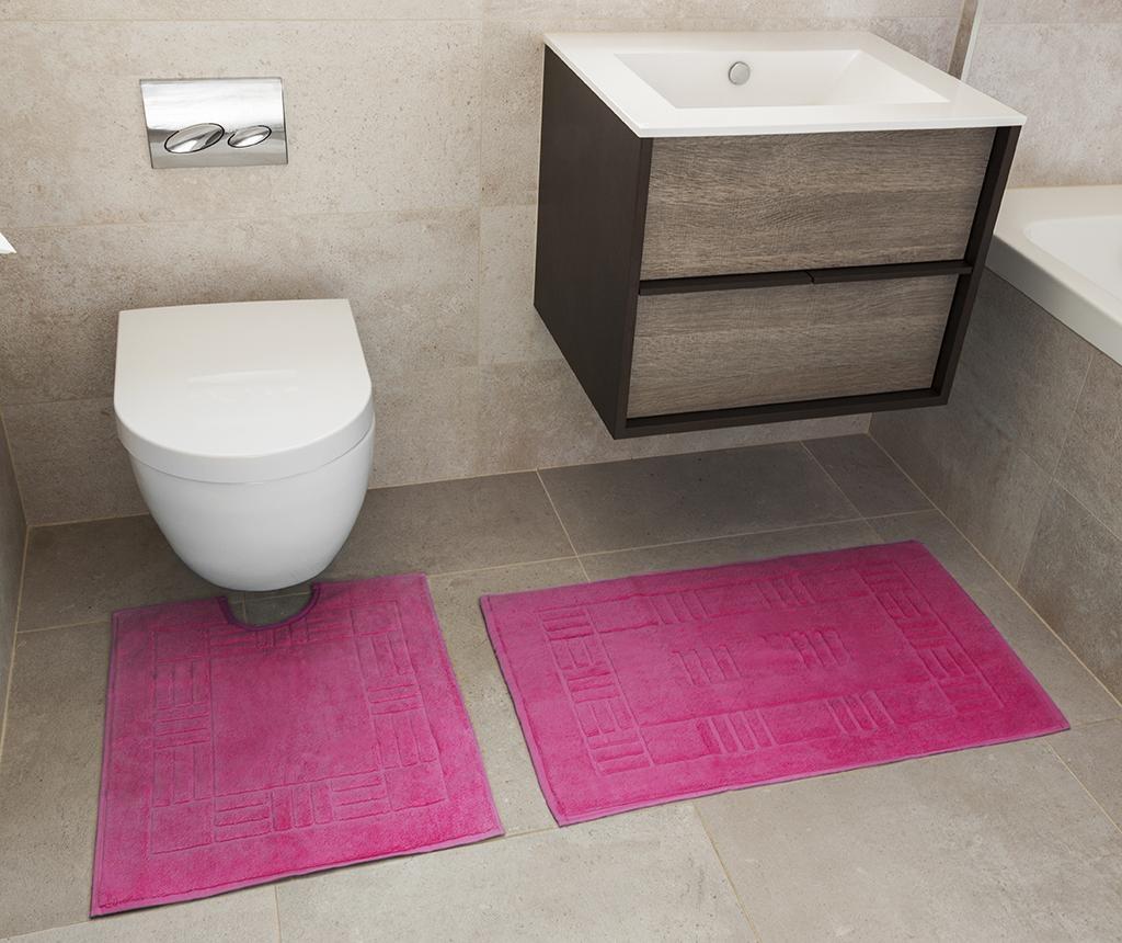Reversible Verica Fuchsia Fürdőszobai kilépő és szőnyeg