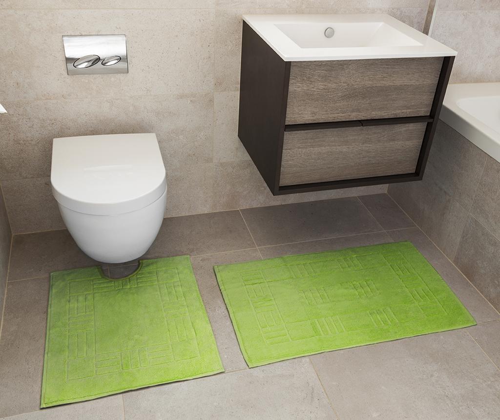 Reversible Verica Lime Fürdőszobai kilépő és szőnyeg