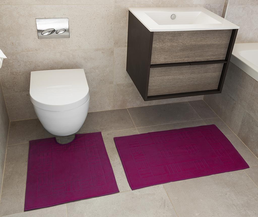 Reversible Verica Magenta Fürdőszobai kilépő és szőnyeg