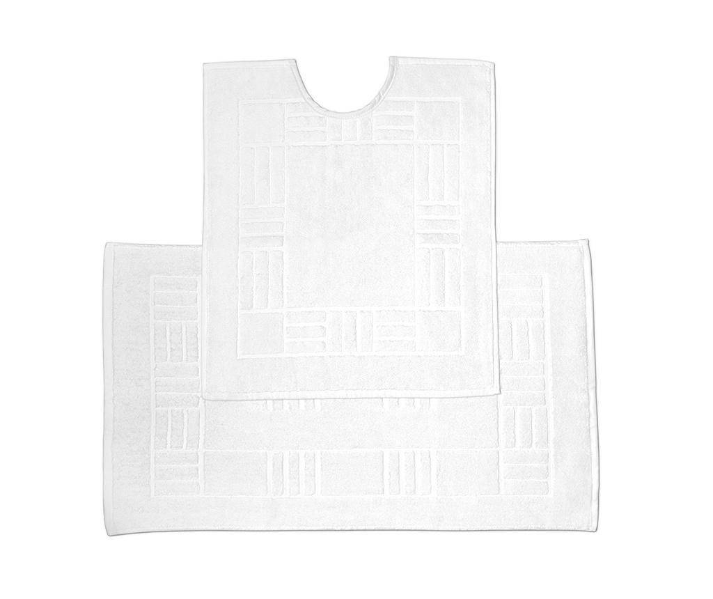 Reversible Verica White Fürdőszobai kilépő és szőnyeg