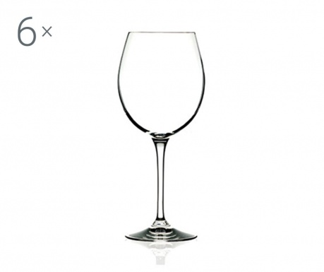 Sada 6 pohárov na červené víno Invino 650 ml