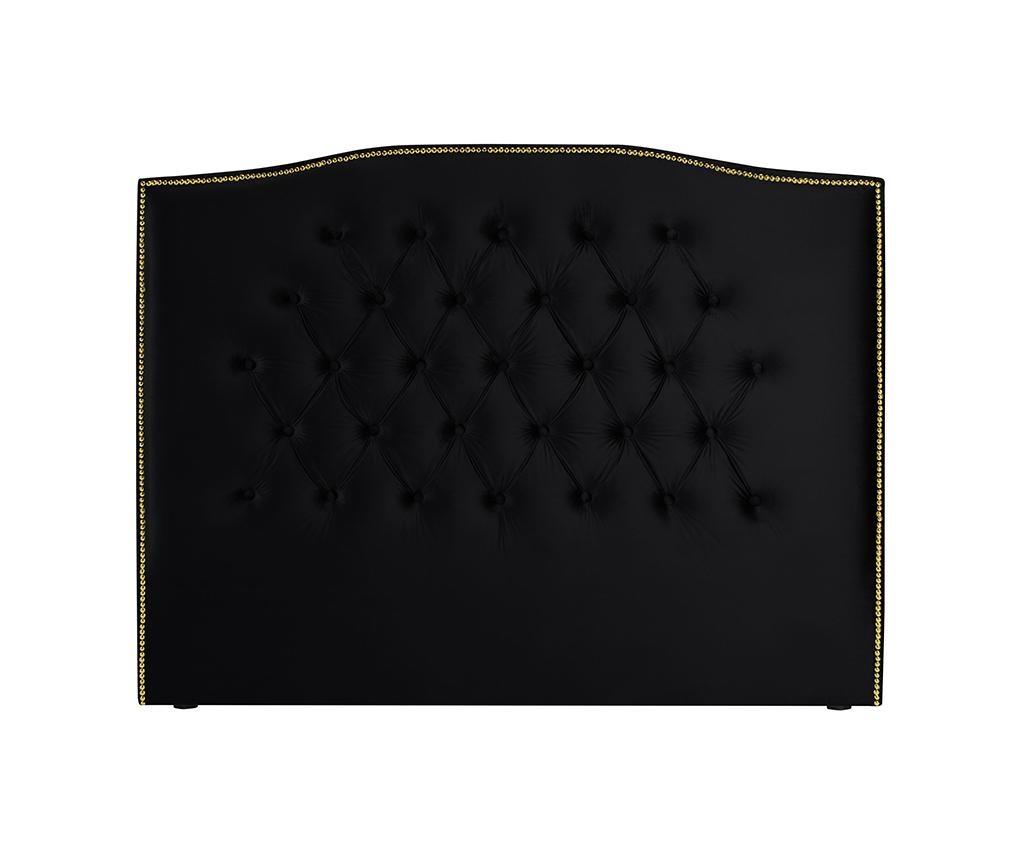 Tablie de pat Daisy Deep Black 160 cm