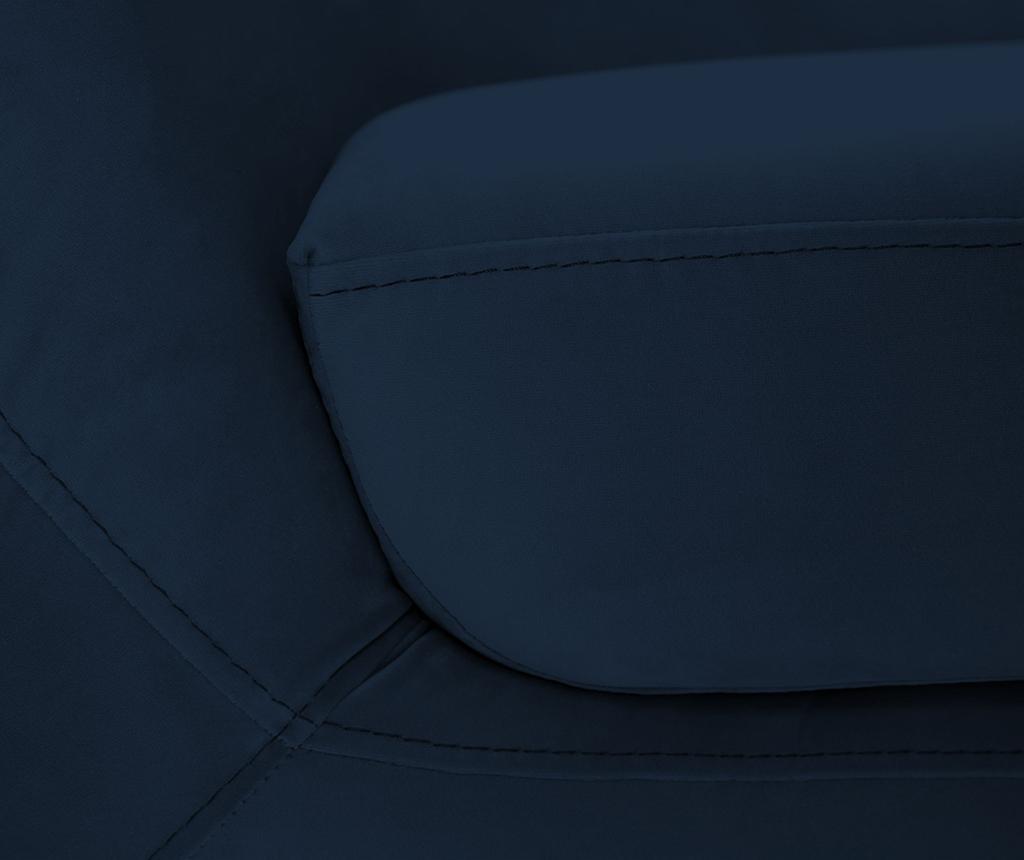 Amelie Dark Blue Black Kétszemélyes kanapé