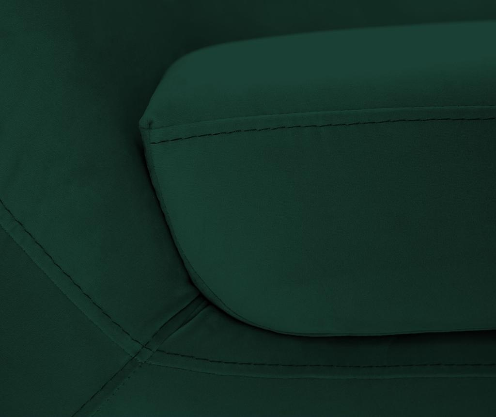 Amelie Bottle Green Black Kétszemélyes kanapé