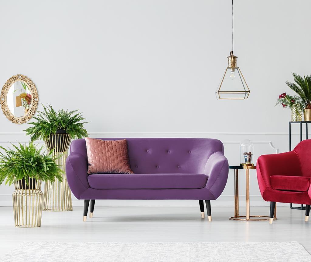 Amelie Violet Black Kétszemélyes kanapé