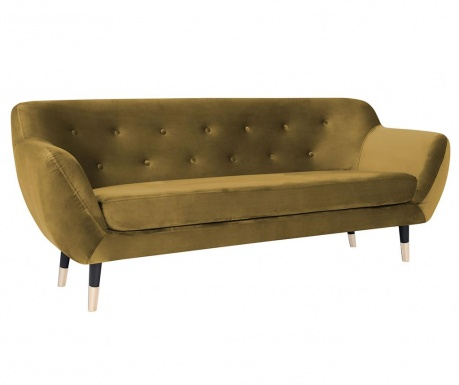 Amelie Gold Black Háromszemélyes kanapé