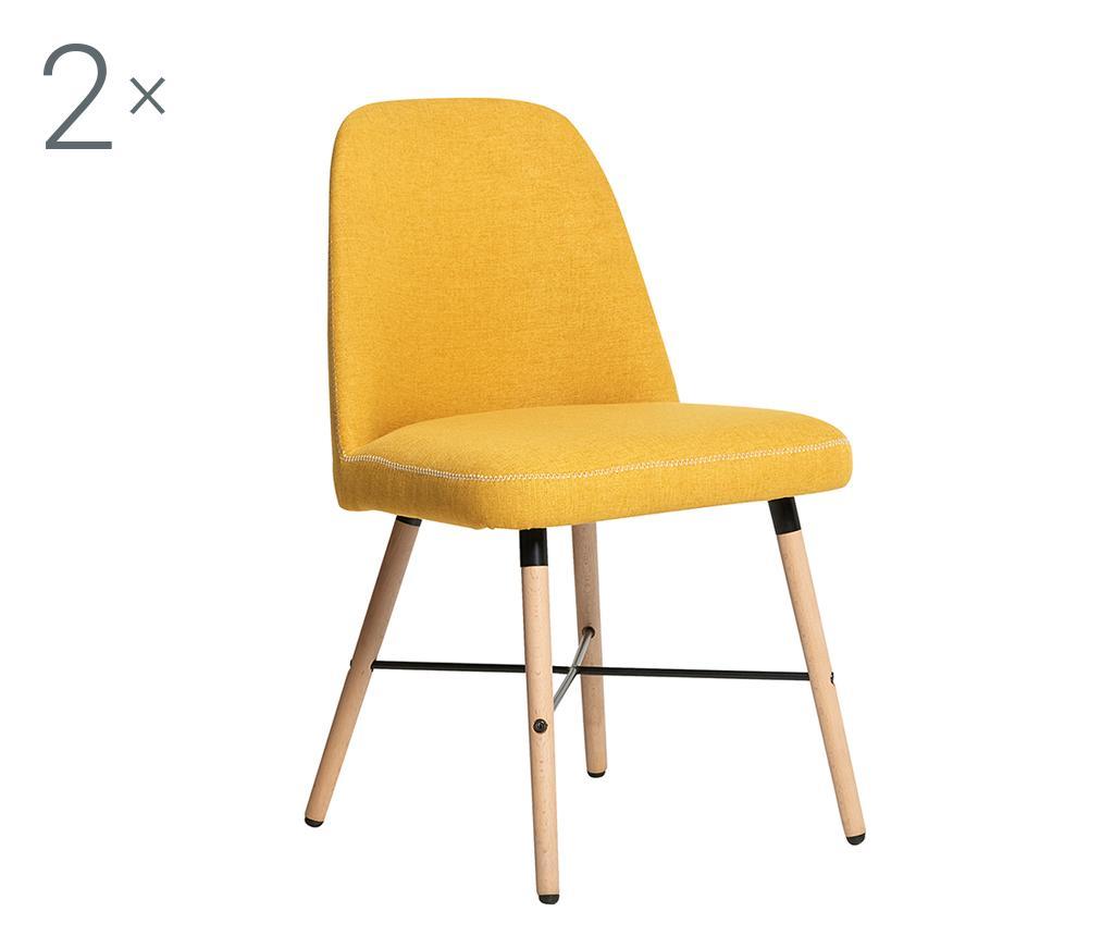 Set 2 scaune Norah Yellow - TopAmbientes, Galben & Auriu