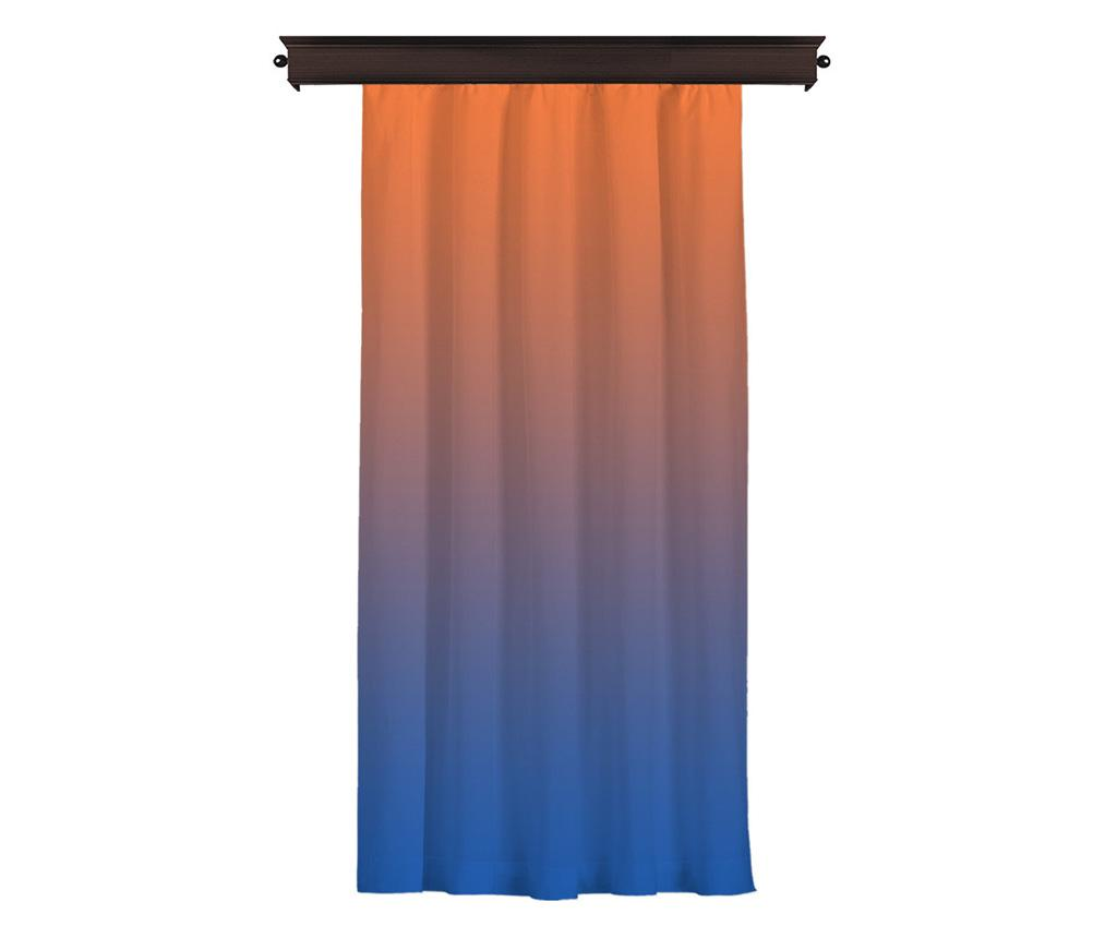 Draperie Chaldene 140x260 cm - Cipcici, Albastru,Portocaliu