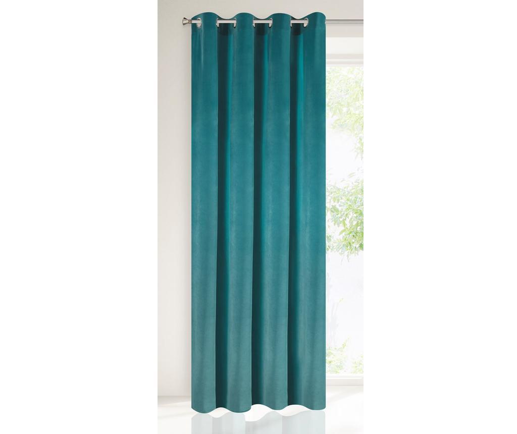 Draperie Tycjan Turquoise 140x250 cm - Eurofirany, Albastru
