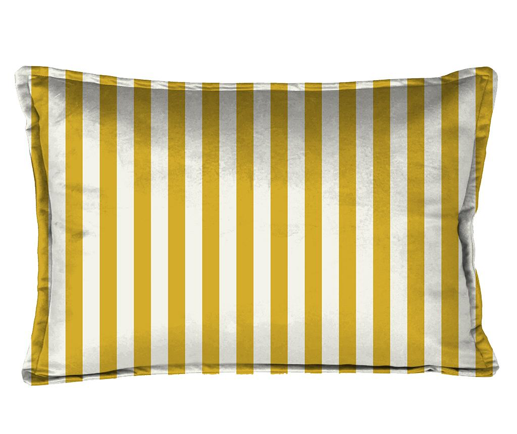 Perna decorativa Tight Strips 35x50 cm - Really Nice Things, Alb,Galben & Auriu