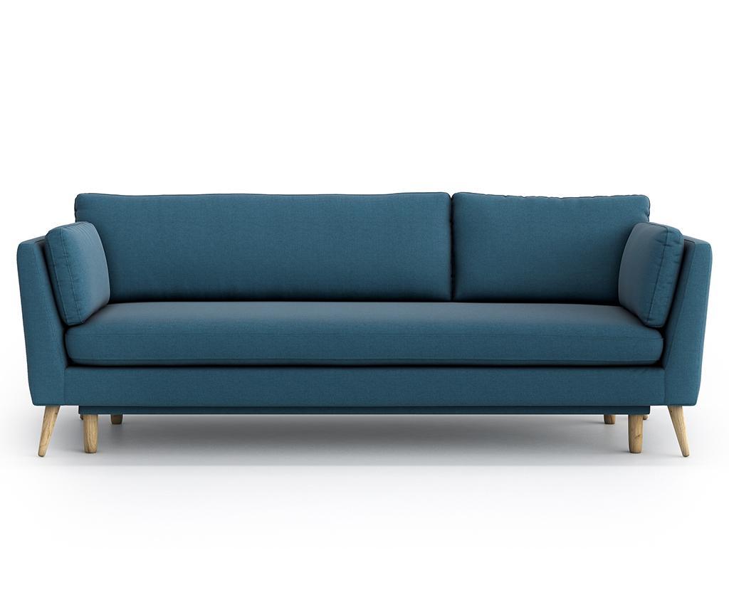 Canapea extensibila 3 locuri Jane Olaf Blue - Optisofa, Albastru
