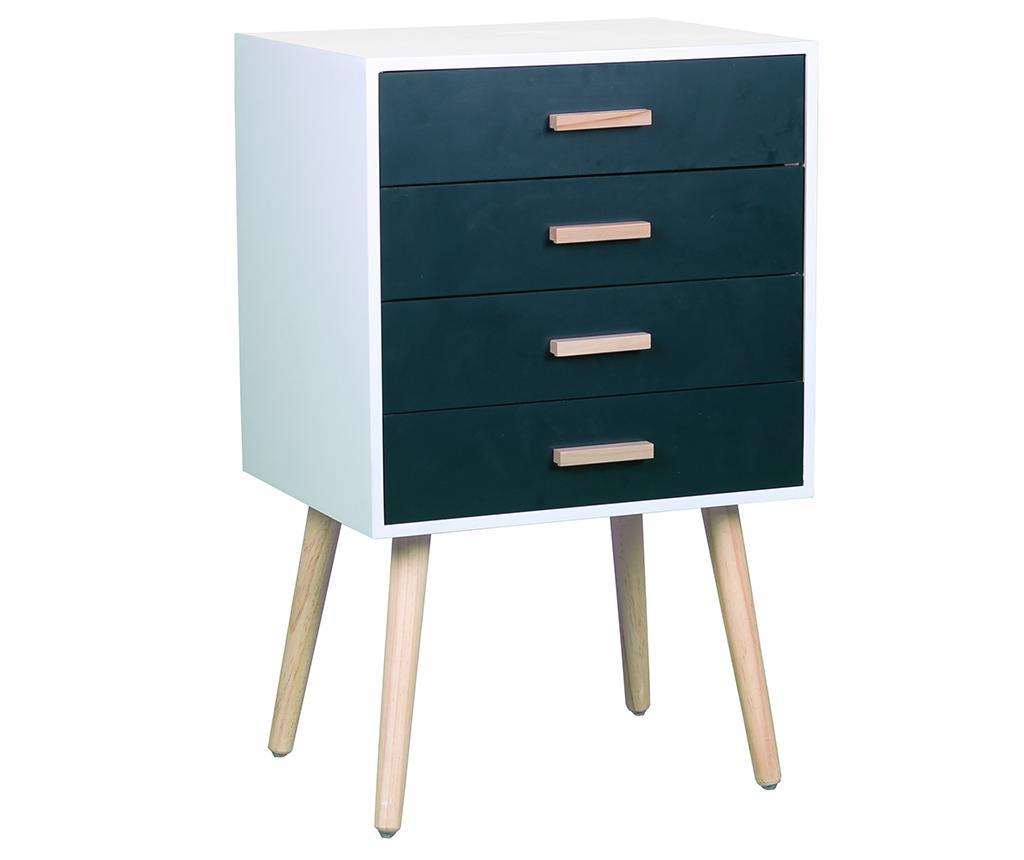 Dulapior Petra Drawers - SIT Möbel, Alb,Albastru