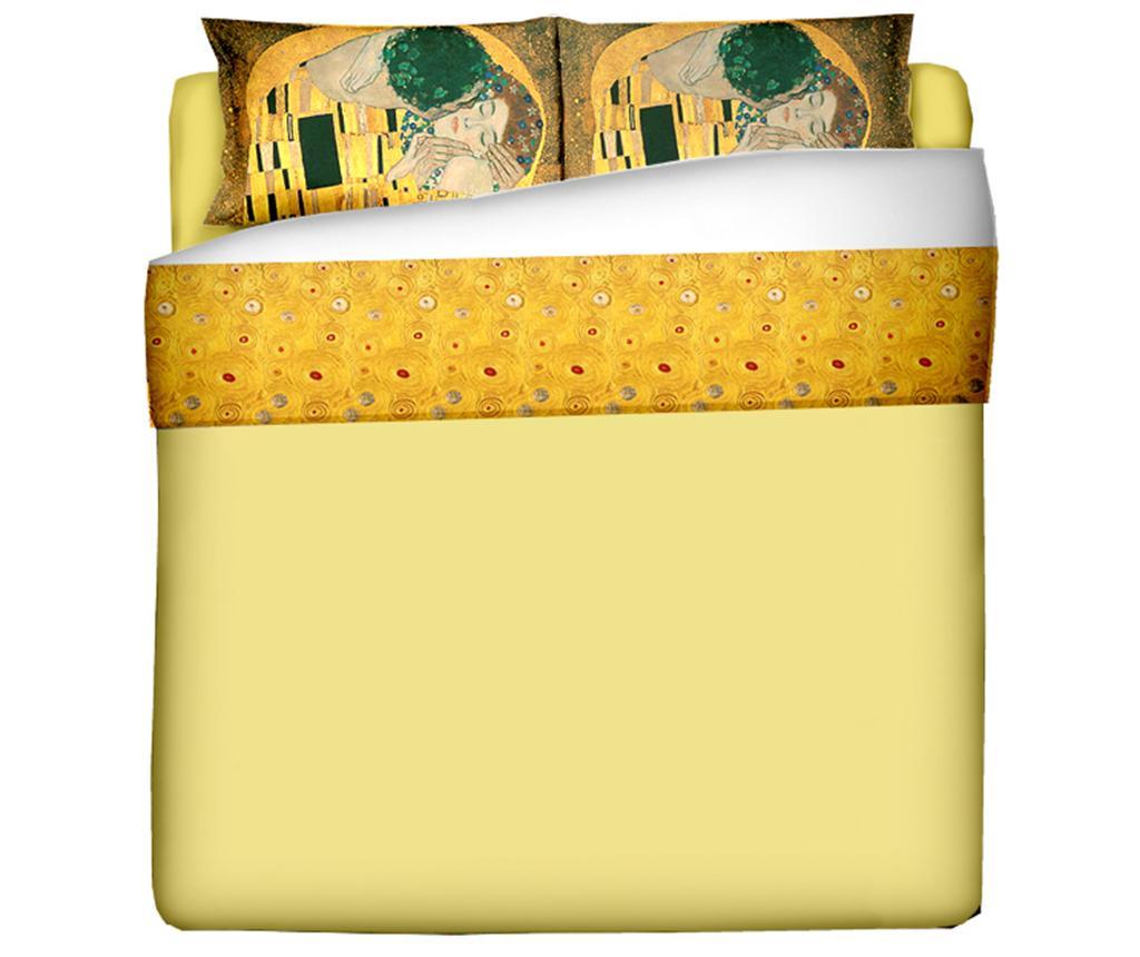 Set Cearsaf Pat Fete Perna King Ranforce Klimt The Kiss