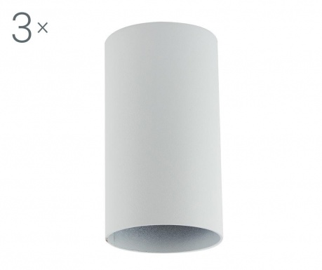 Zestaw 3 lamp sufitowych Briska White