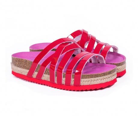 Ženske papuče Bio Cross Platform Red