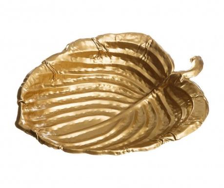 Dekorativni krožnik Taya Leaf Gold