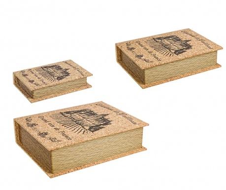 Zestaw 3 pudełek typu książka Ennio