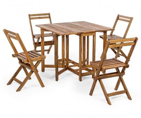 Sada venkovní skládací stůl a 4 židle Augusta Brown