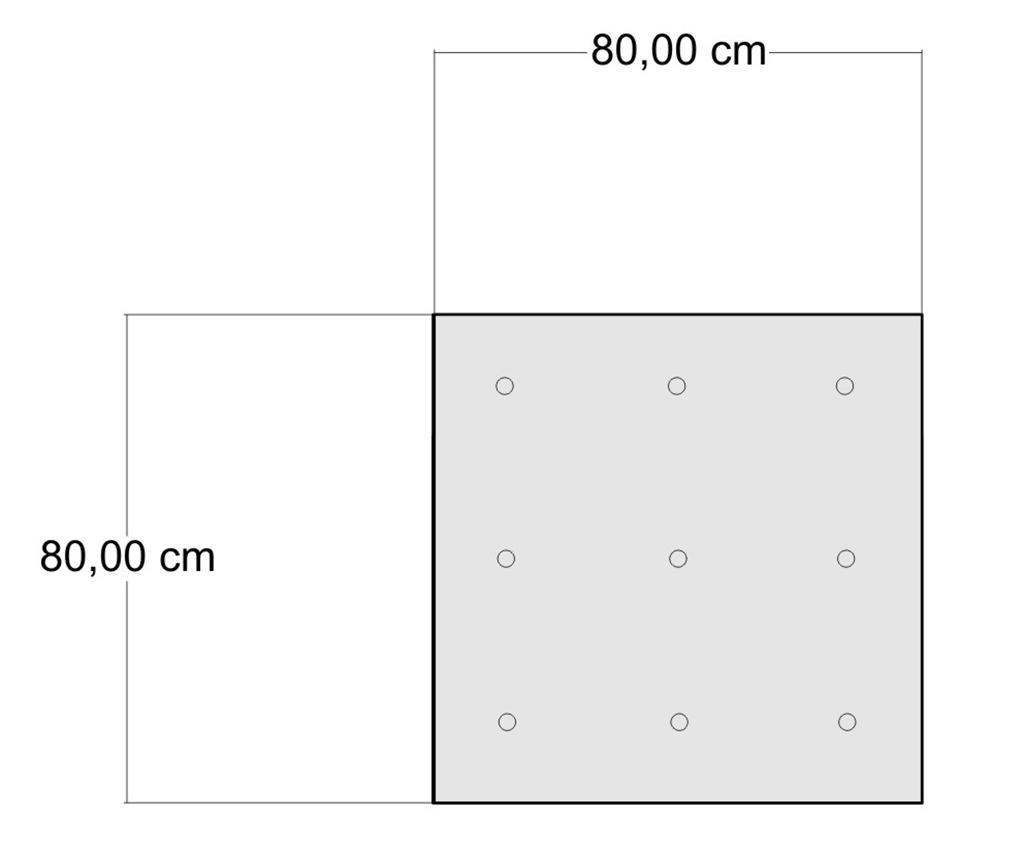 Perna de podea Yantra Brown 80x80 cm