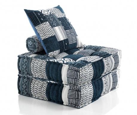 Set 2 ukrasna jastuka i 2 podna jastuka White Blue