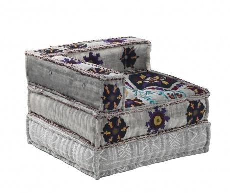 Set jastuk za sjedenje i podni jastuk Yantra Dark Grey