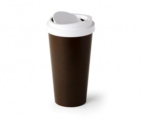 Cos de gunoi cu capac Coffee Micro Brown 680 ml