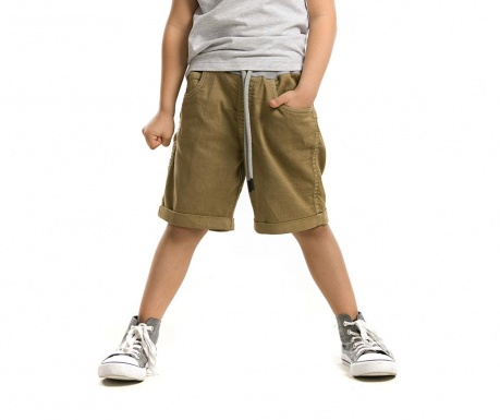 Pantaloni scurti pentru copii Khaki Gabardine