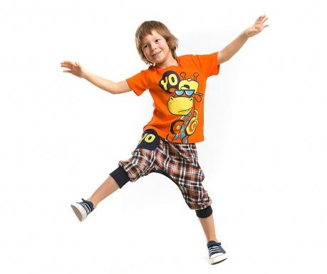 Set tricou si pantaloni trei sferturi pentru copii Yearso Giraffe Baggy 8 ani