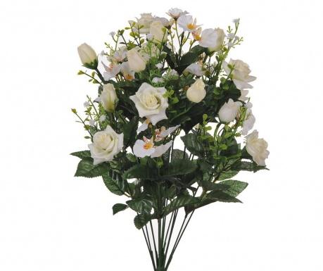 Kytice z umělých květin Rose and Orchids White
