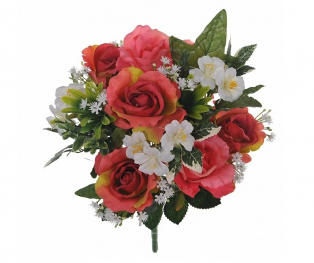 Buchet flori artificiale Roses and Hydrangea Pink