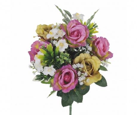Kytice z umělých květin Roses and Hydrangea Lilac