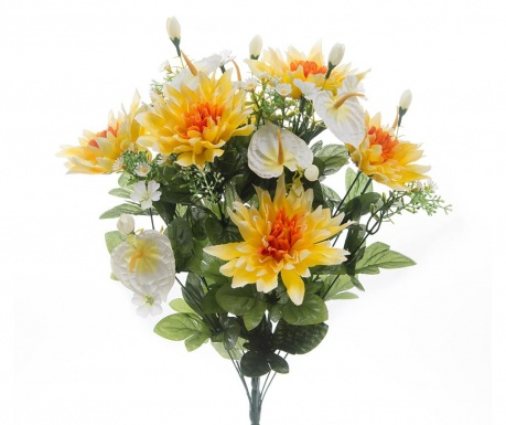 Buchet flori artificiale Dahlia Yellow