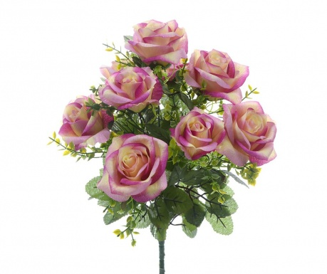 Buchet flori artificiale Roses and Gypsophila Purple