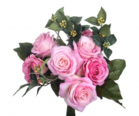 Buchet flori artificiale Rose Bouquet Pink