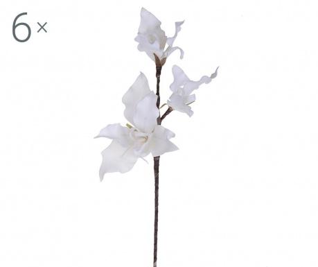 Sada 6 umělých květin Lily Ivory