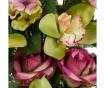 Kytice z umělých květin Orchid and Roses Burgundy