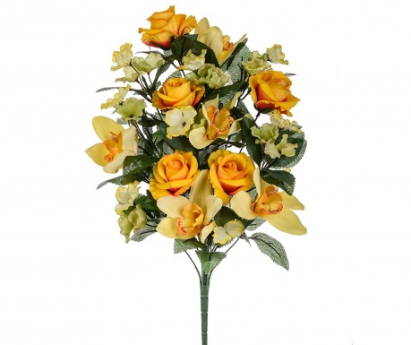 Buchet flori artificiale Orchid and Roses Orange