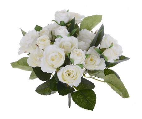Buchet flori artificiale Roses Cream