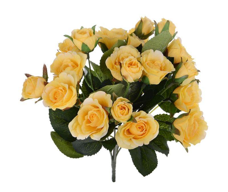 Buchet flori artificiale Roses Yellow