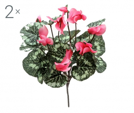 Set 2 buchete flori artificiale Cyclamen Pink