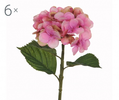 Set 6 umetnih cvetlic Hydrangea Single
