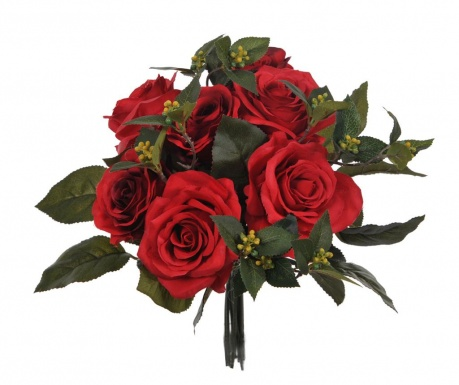 Buchet flori artificiale Rose Bouquet Red