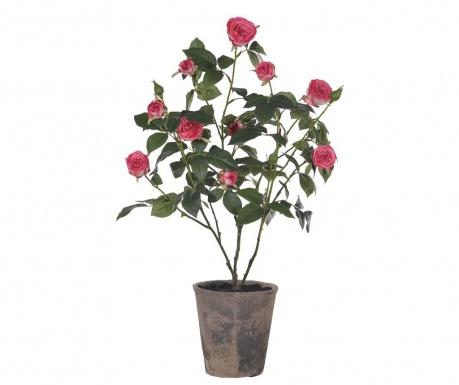 Umělá květina v květináči Mini Roses in a Pot Pink