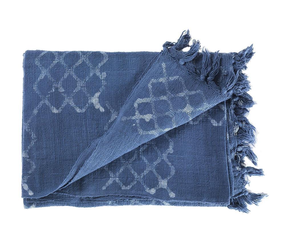 Pled Yantra Light Blue 125x180 cm