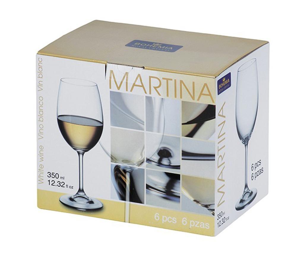 Set 6 pahare pentru vin Bohemia Royal Martina Crystalite 350 ml