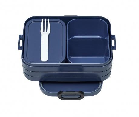 Κουτί γεύματος με 1 μαχαιροπήρουνο Bento Blue S