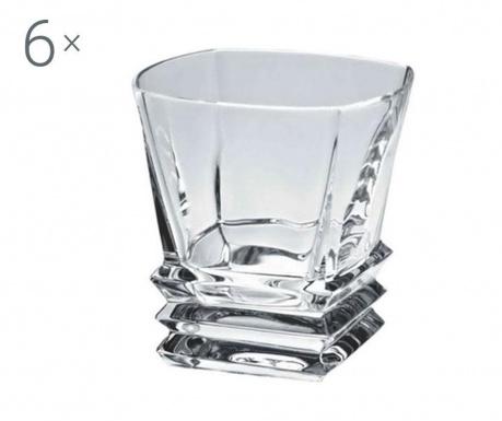 Set 6 pahare pentru whisky Bohemia Crystal Rocky 310 ml